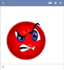 Facebook Angry Smiley Face