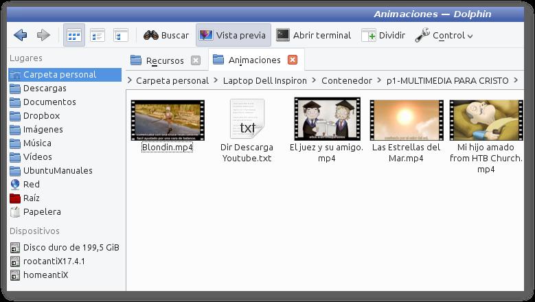 Dolphin Administrador de Archivos no tiene vista previa de videos en antiX y Debian 9 (Stretch) - SOLUCIÓN