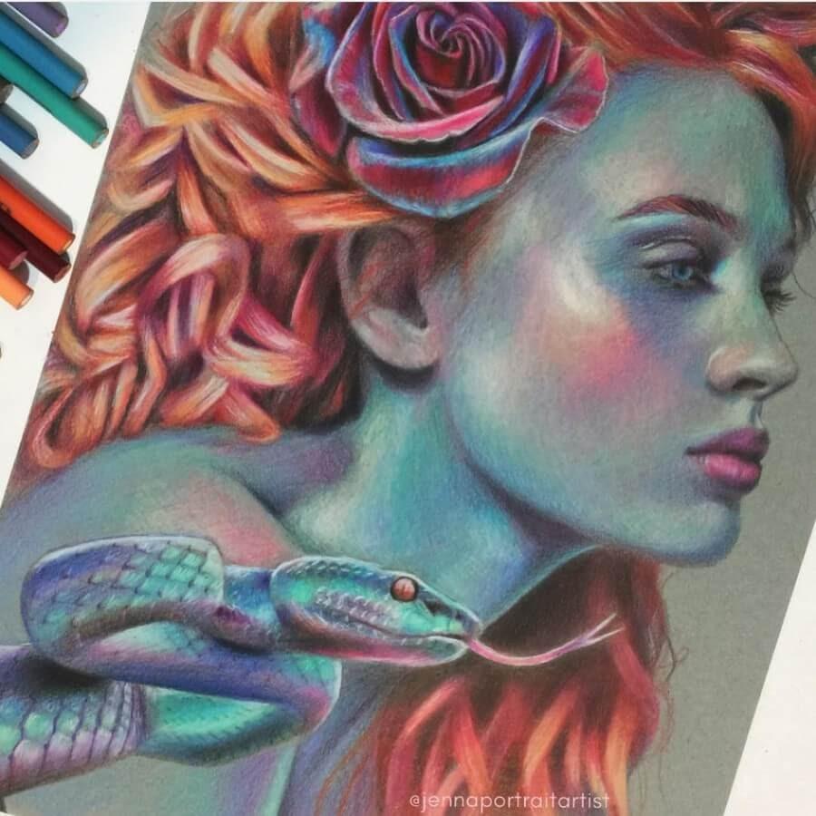 12-Portrait-6-Jenna-Very-Vivid-Colors-in-Varied-Drawings-www-designstack-co