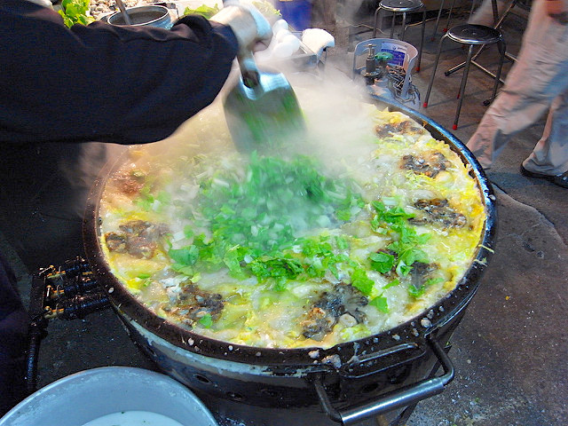 The Hai Pu Oyster Omelette are prepared freshly upon order