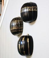 http://kailochic.blogspot.com/2015/09/craft-it-black-and-gold-tribal-pumpkins.html