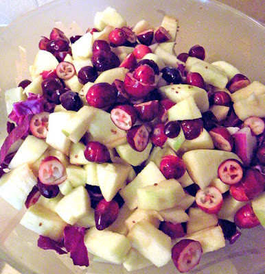 Apple Cranberry Slaw in bowl