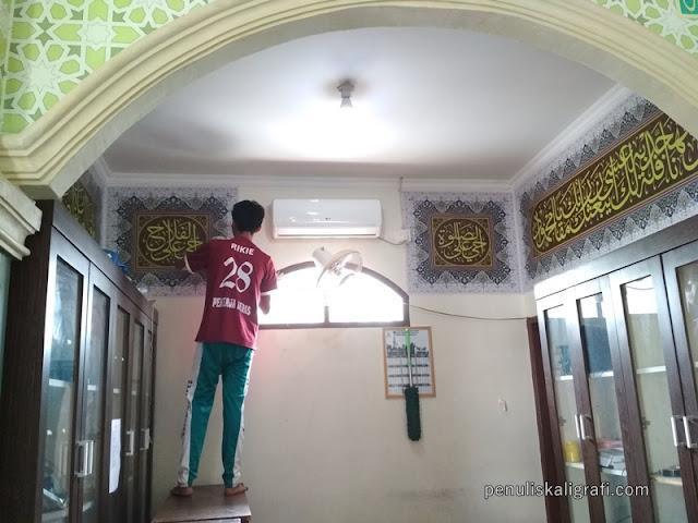 kaligrafi masjid digital pekanbaru, desain kaligrafi, kaligrafi masjid