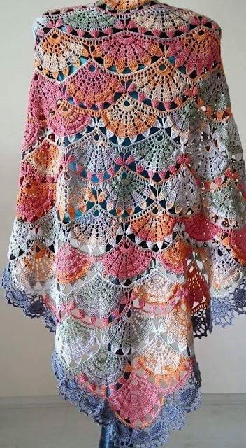 pattern in crochet shawl to learn