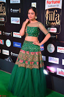 Nandita Swetha in a tight Green Choli Ghagra at IIFA Utsavam Awards March 2017 ~ 046.JPG