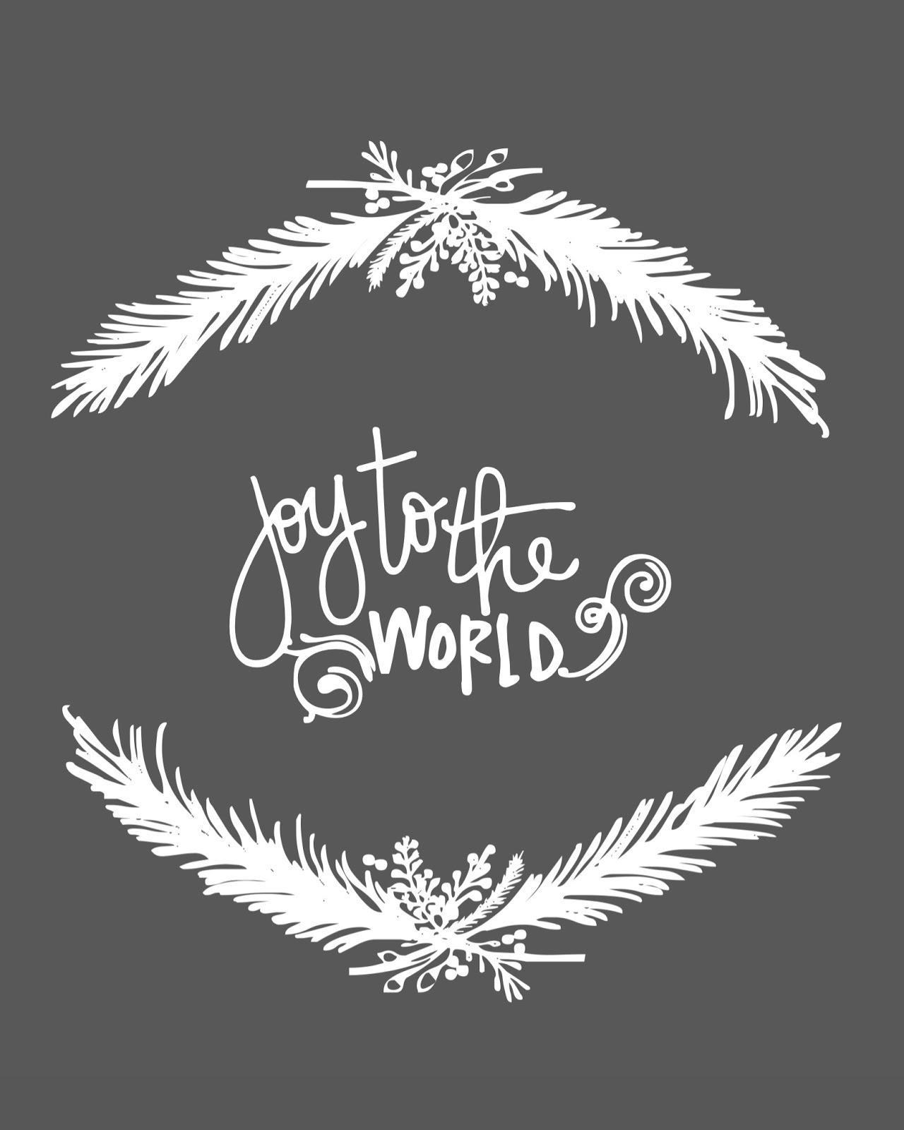 Joy to the World free Christmas Printable 8x10