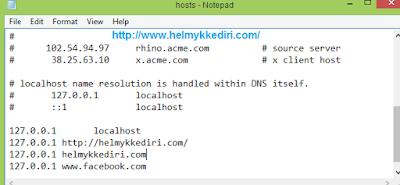 Memblokir alamat situs dikomputer manual