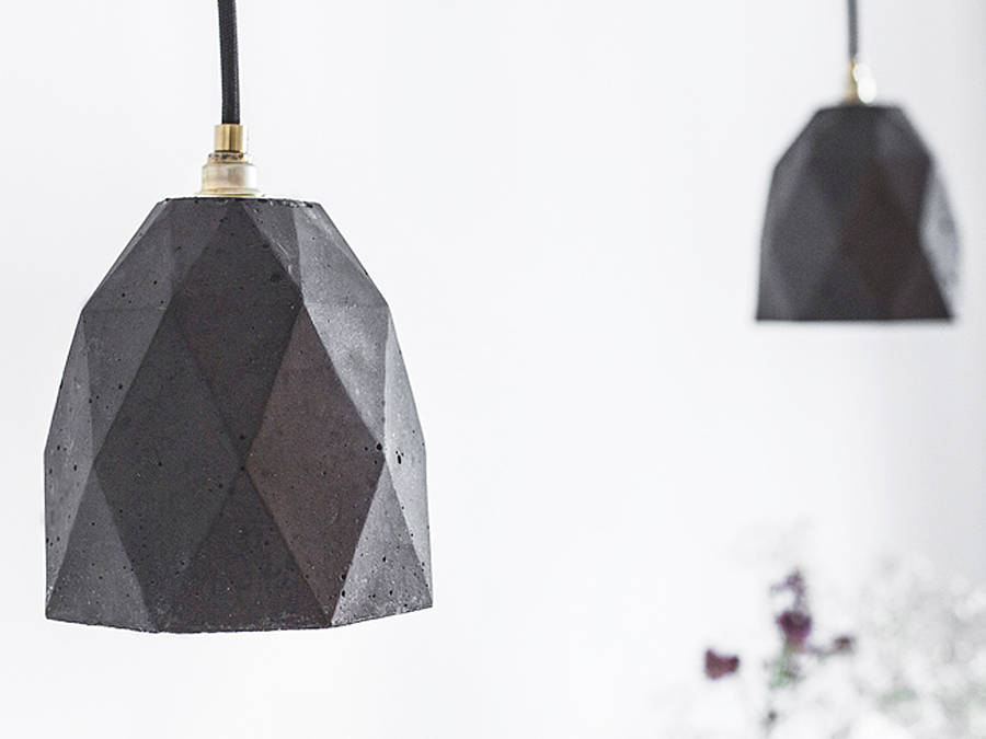 lampara colgante de techo en concrete