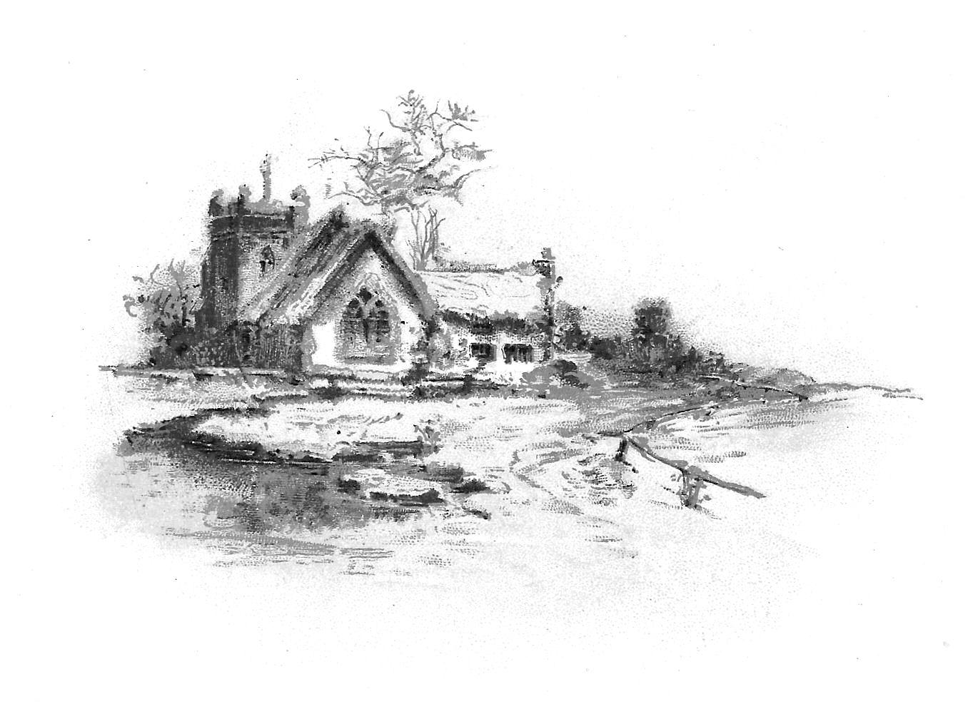 Antique Images: Free Church Clip Art: Rustic Church