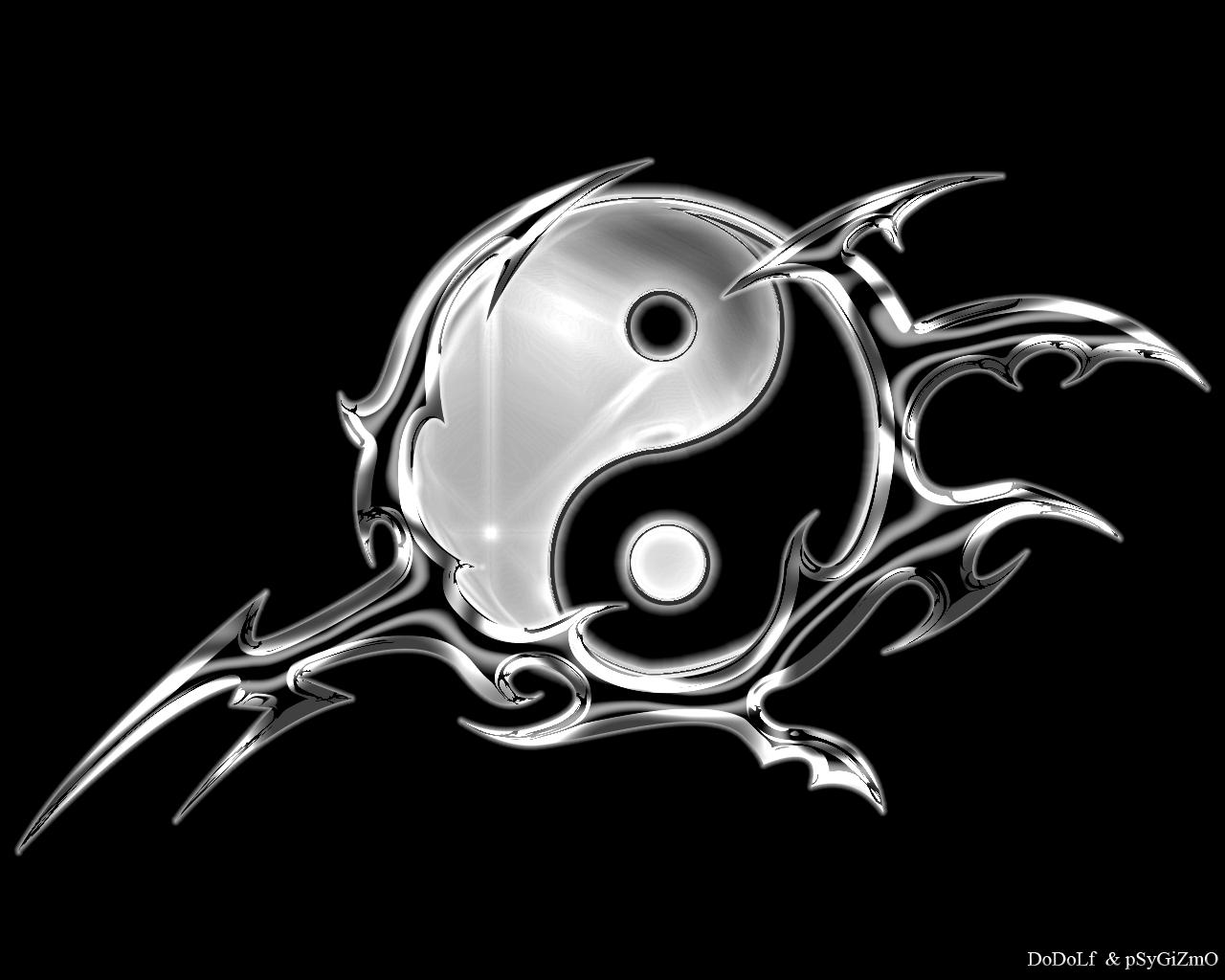 tatouage ying yang tribal. Black Bedroom Furniture Sets. Home Design Ideas