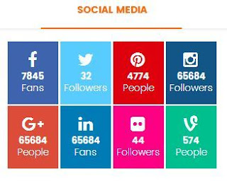 Add Social Media Icons To Your Blogger With Count-Numbers