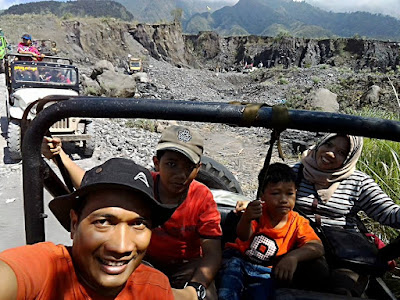 Track condition along Merapi Lava Tour
