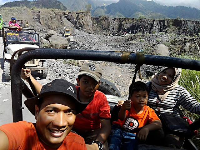Kondisi track Merapi Lava Tour