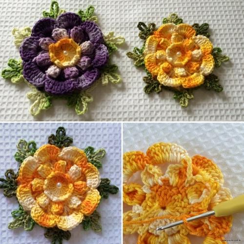 Charisma Floral Motif - Free Pattern