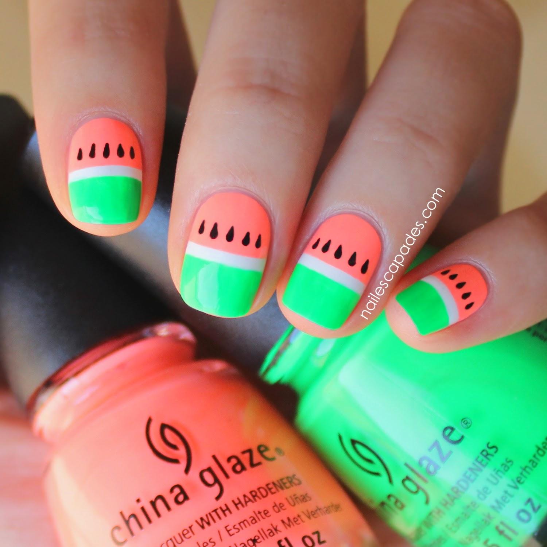 Neon Nail Designs: Nail Escapades: Polishers Inc.