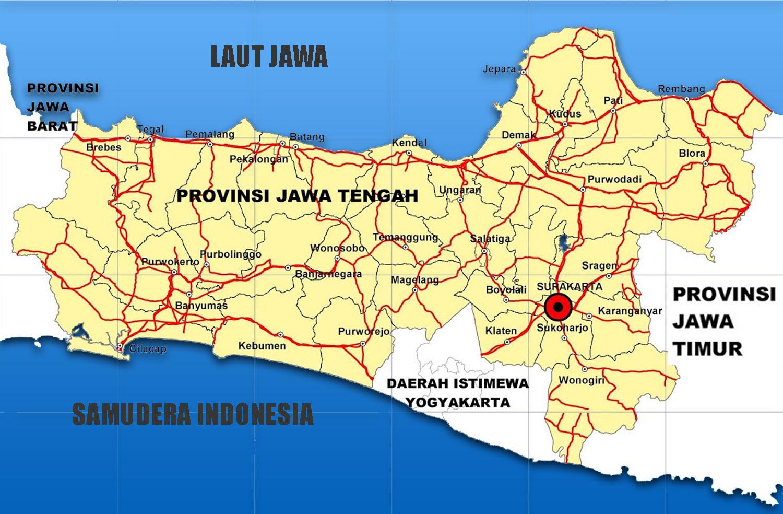 Peta Jawa Tengah Hd Lengkap Daftar 35 Kabupaten Kota Gambar