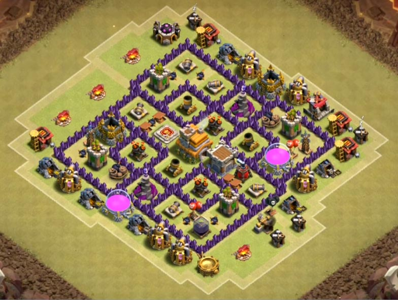 best town hall 7 war base