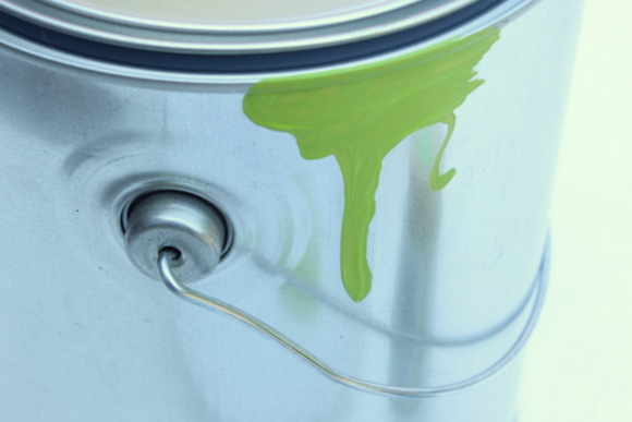 Creating a paint drip design is easy and makes this project look really fun.