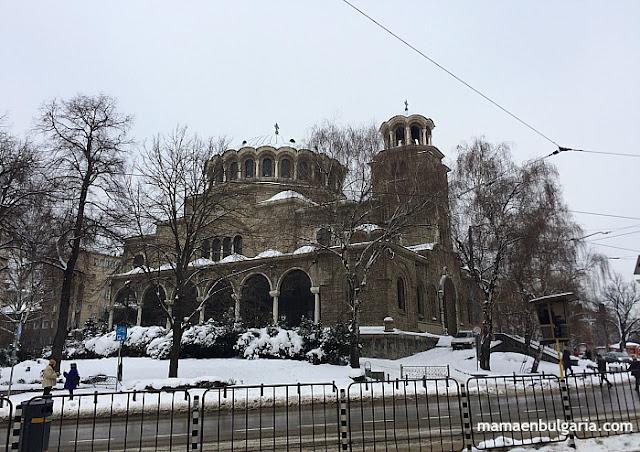 Catedral Svetá Nedelia invierno nieve