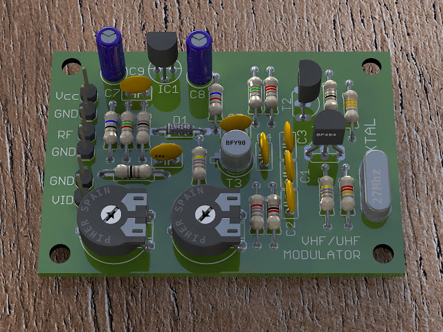 EAGLE PCB rendered with POV-Ray HDRI lighting