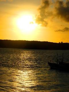 Pôr do Sol, Rio Cricaré, em Conceição da Barra