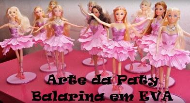 EVA PAP - Passo a Passo Lembrancinha Boneca Bailarina em EVA Para Festas - Vídeo