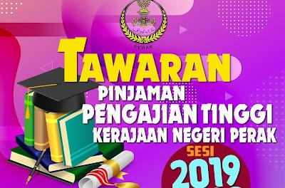 Permohonan Pinjaman Pengajian Tinggi Negeri Perak 2019 Online