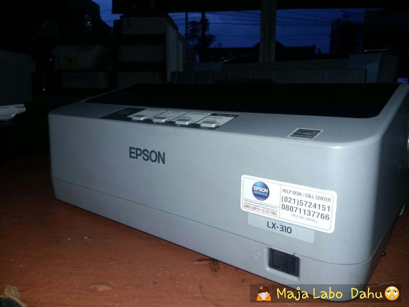 Printer Bekas Epson Lx310 Service Segala Kerusakan Lx 310 Kelengkapan