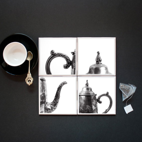 Modern day coasters are perfect for the tea lover.