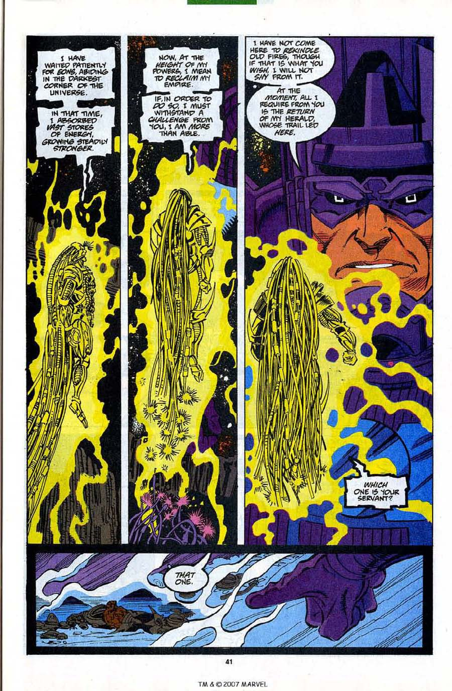 Read online Silver Surfer (1987) comic -  Issue #82 - 43