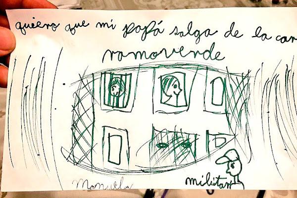 Dibujo hecho por la hija de Leopoldo Lopez