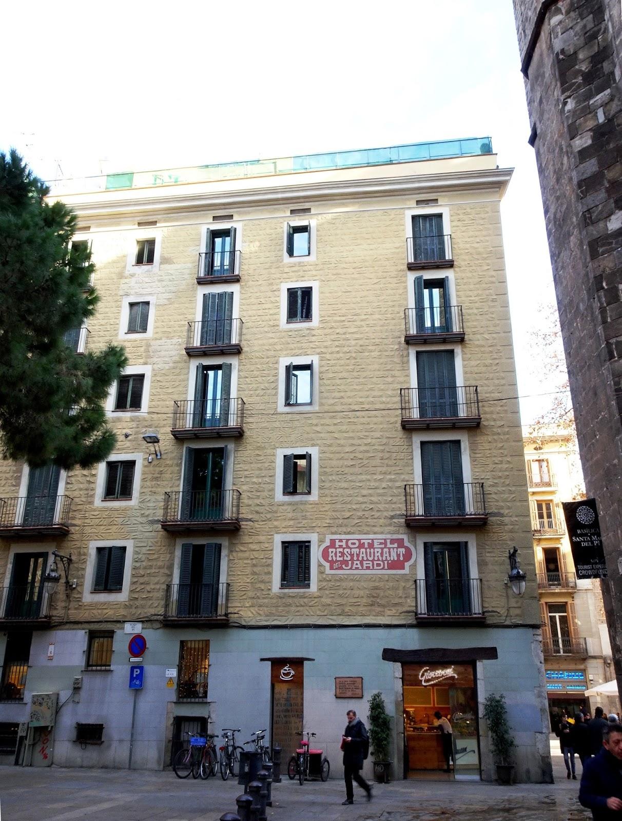 Redescubriendo barcelona y m s all 11 01 2017 hotel del for Hotel el jardi barcelona