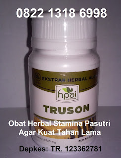 Khasiat TRUSON HPAI obat kuat herbal alami vitalitas pria dewasa
