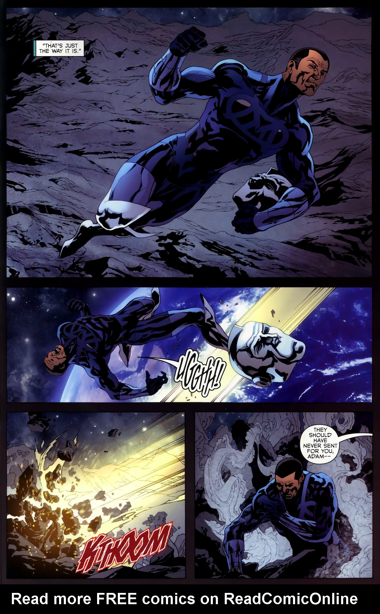 Read online Adam: Legend of the Blue Marvel comic -  Issue #4 - 17
