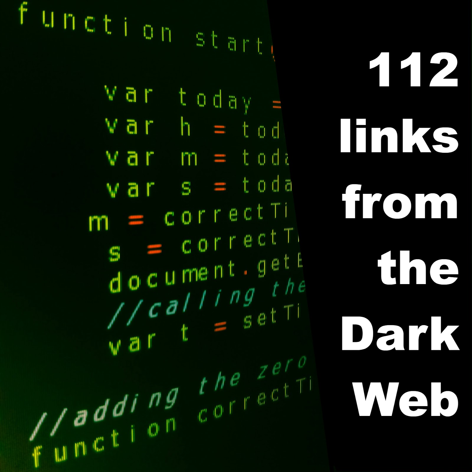 112 Links From The Dark Web (2018)