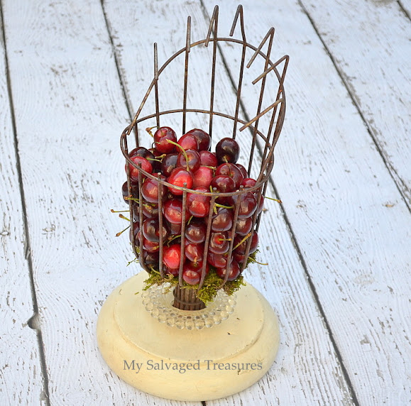 repurposed fruit picking basket
