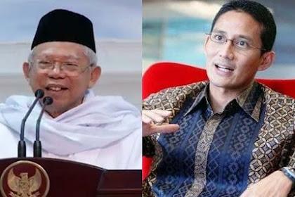 Gagasan Ma'ruf Menguatkan Jokowi, Sandiaga Tak Sinergis dengan Prabowo - SemarNews