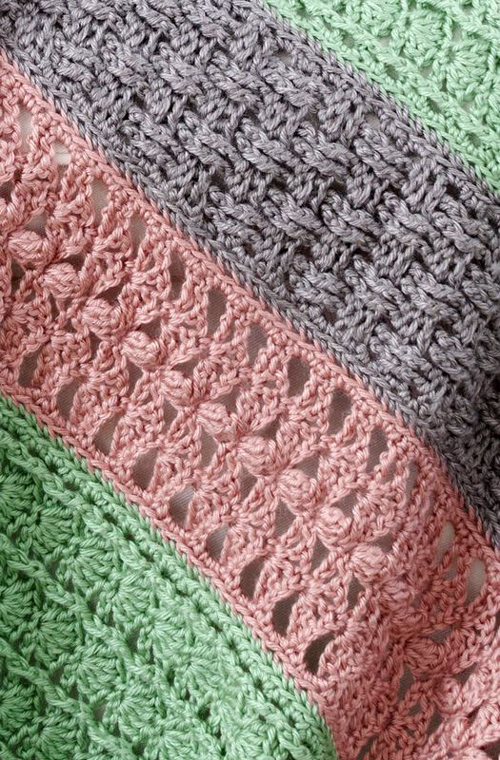 Soft Stripes Throw - Free Pattern