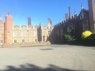Hampton Court Palace exterior courtyard