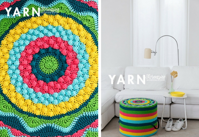 YARN Bookazine, the tropical issue (photos by Scheepjes)   Happy in Red