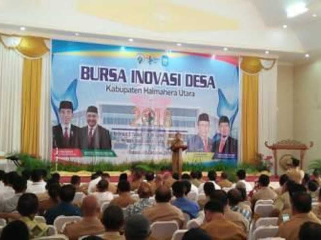 DPMD Halmahera Utara Gelar Bursa Inovasi Desa 2018