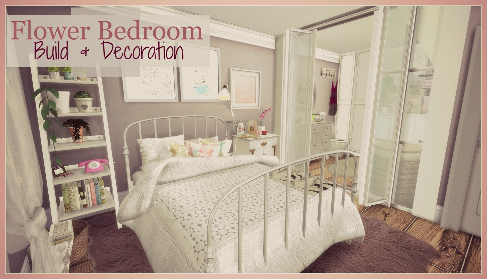 Sims 4 flower bedroom buil decoration dinha for 4 bedroom