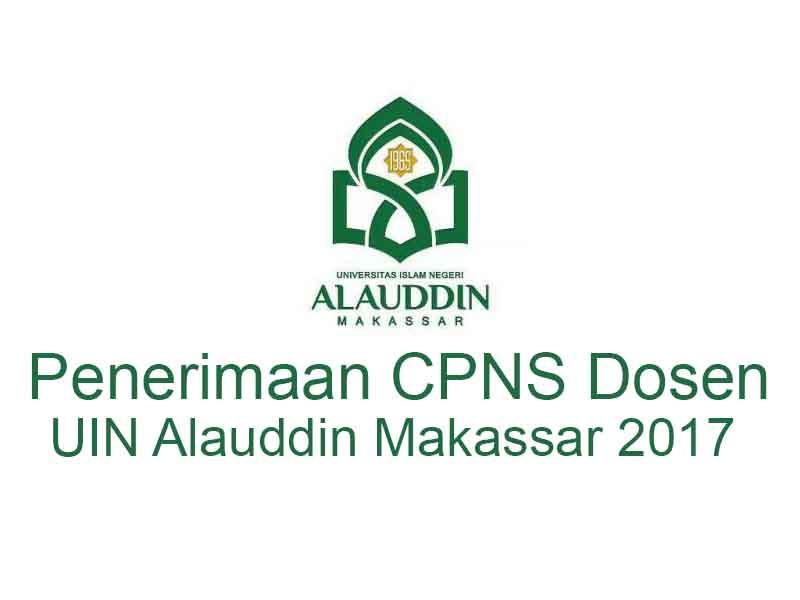 Penerimaan CPNS Dosen UIN Alauddin Makassar 2017