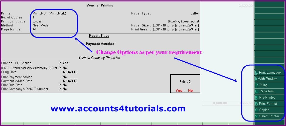 How To Print Tds Challan No 281 In Tally Accounting Taxation