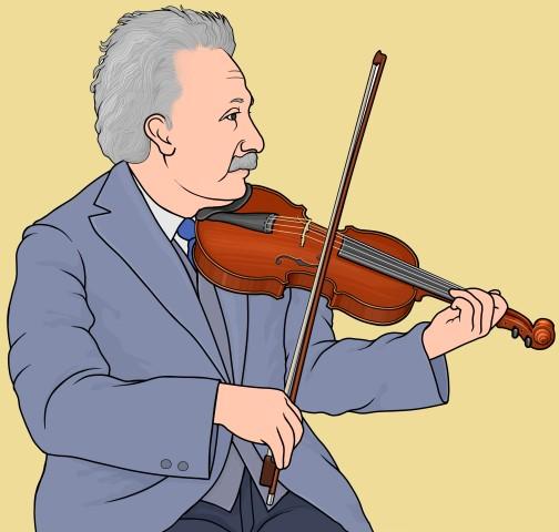バイオリンを演奏するアインシュタイン Einstein