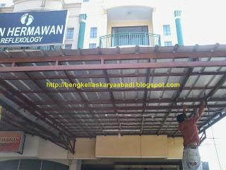 contoh gambar canopi spandek