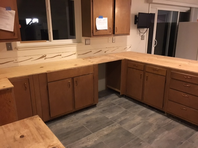 Plywood counter tops - kitchen remodel