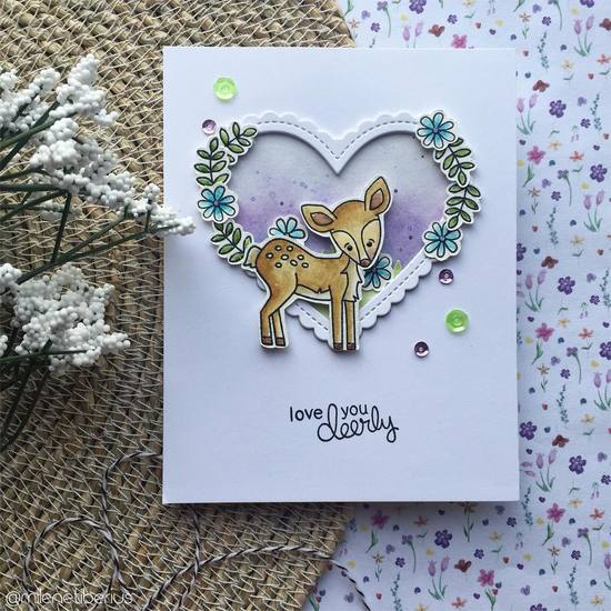 Love you deerly  by Milene features Deer Friend by Newton's Nook Designs; #newtonsnook