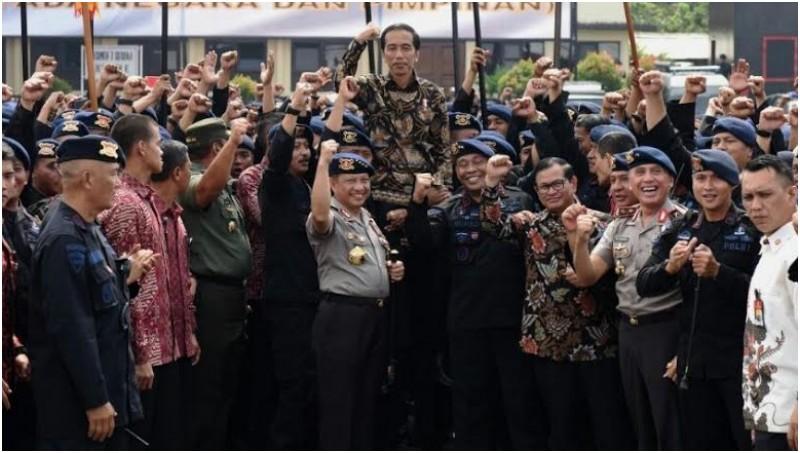 Kunjungan Jokowi ke Markas Brimob Polri di Kelapa Dua, Depok