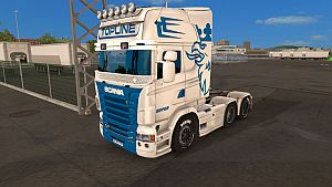 Blue Griffin skin for Scania RJL